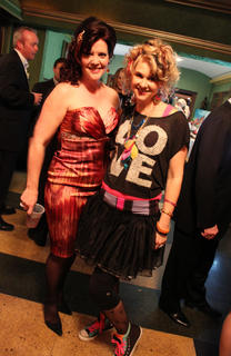 Mary Carey, right, and Jennifer Shrewsbury were all decked out for the '80s.