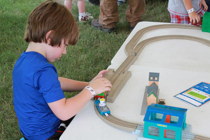 About 14,000 children and adults are expected to stop by during Thomas the Tank Engine's visit to the Kentucky Railway Museum in New Haven June 4-5 and June 11-12.