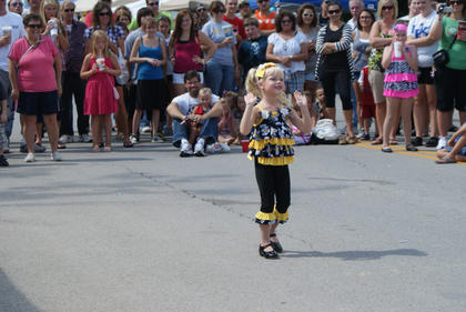 Four-year-old Macey Unseld, Cox's Creek, danced for the crowd at the festival. Macey was the only performer in her age division with Dance Pro's.