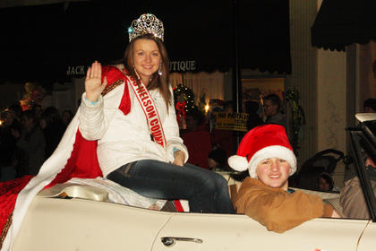 Miss Nelson County 2011 Taylor Danielle Milburn rode in a 1966 Chevy driven by Edwin Pulliam of Chaplin.