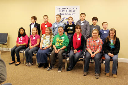 Fourteen students  — perhaps more students than ever before, according to organizer Adam Wheatley — competed in the 2012 Nelson County Spelling Bee hosted by the Nelson County Farm Bureau.