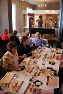 Guests learned to detect four different flavors as they sampled three bourbons at Any Way She Likes It, a bourbon sampling event geared toward women, hosted by former Master Bourbon Taster Peggy Noe Stevens.