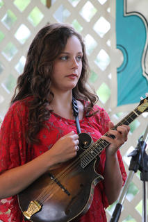"""Samantha Patrick has recorded her own CD, """"Sweetheart of the Bluegrass."""" Her brother, Daniel Patrick, recently joined the well-known group, The Roys, and her father told the audience Saturday she, too, may pursue a professional music career."""