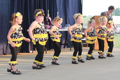 Dance Pro's tiny dancers performed before the start of the Miss Pre-Teen Nelson County Fair pageant Wednesday night.