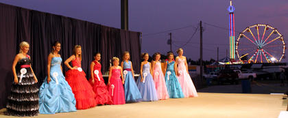 The Top 10 at the Miss Pre-Teen Nelson County pageant.