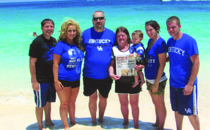 The Kentucky Standard went on vacation to the Bahamas. Pictured are Tommy and Sunshine Flahiff, Martin and Jeannie Flahiff and grandson, Dean Mattingly, and Stephanie and Josh Mattingly.