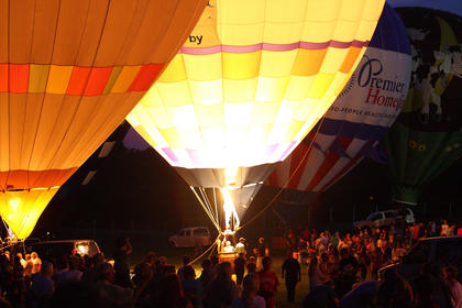 Large crowds flocked to the Nelson County Fairgrounds for Tuesday's Balloon Glow event.