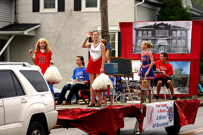 Bloomfield Middle School had one of the floats in Saturday's parade at the Northeast Nelson Historical Harvest Homecoming.