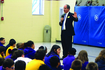 U.S. Congressman Brett Guthrie spoke to Bardstown Elementary fifth graders last week about the history of the U.S. government.