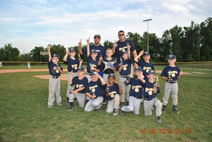 The Brewers went 15-2 and were champions of the Nelson County Little League's Machine Pitch division. Team members include (front) Trey Lawson, Jakob Gorham, Tayon Clay, Jagger Stone, J.T. Livers, (back) Brayden Mouser, Jack Brown, Lincoln Boone, J.T. Mattingly, Ethan Rich, Gavin Bartley, Xander Tucker and coaches Jimmy Mouser and Matt Brown. Not pictured is Todd Bartley.