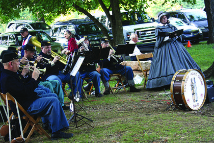 Ken Distler's Civil War Band performs in front of the J. Dan Talbott Amphitheatre Friday.