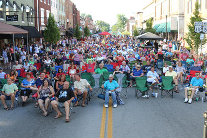 The crowd at Saturday's Bourbon City Street Concert on North Third Street.
