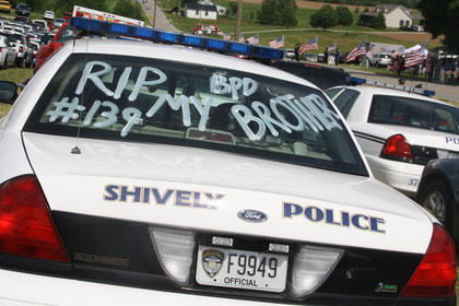 Hundreds of law enforcement officers made their way to Nelson County on Thursday to honor fallen Bardstown Police officer Jason Ellis.