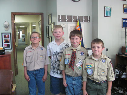 Cub Scout Pack 99 Webelos visited the Kentucky Standard and PLG on May 9.