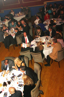 Various tables at the Stephen Foster Drama Association's Beautiful Dreamers Ball Saturday night at Kreso's participate in the trivia portion of the night.