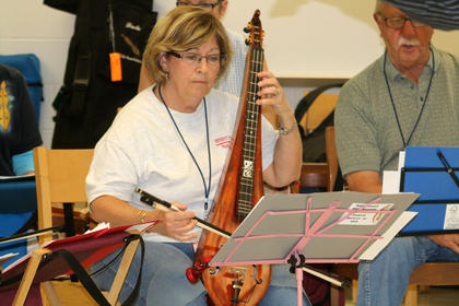 Alice Burton practices a piece during a lesson at Kentucky Music Week.