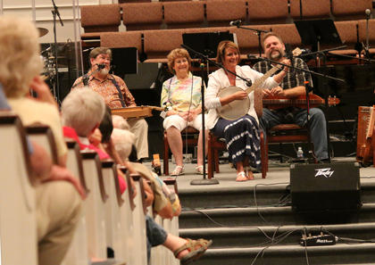 Instructors performs during a concert at Parkway Baptist Church for Kentucky Music Week.