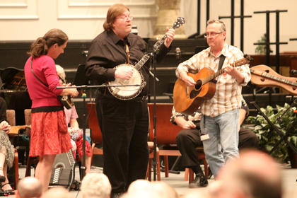 Instructors perform during a concert at Parkway Baptist Church for Kentucky Music Week.