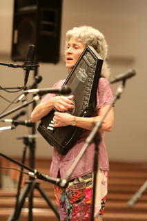 Anne Lough performs during a concert at Parkway Baptist Church for Kentucky Music Week.