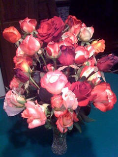Mary Brzozka, Cox's Creek, cut all the rose blooms before the frost. She took this photo of the bouquet the blooms made.