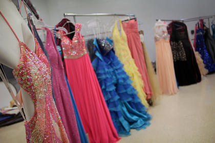 Nelson County High School's Project Graduation organizers helped members of the community sell their old prom dresses for a $5 fee that the group will put toward the event at the end of the year.