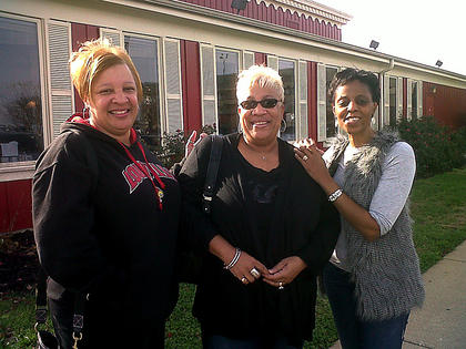 Three of the Fab 5 Shopping Crew, from left, Kim Linton, Shonna Sheckles and Patti Rogers stopped for a leisurely breakfast before holiday shopping in early December.