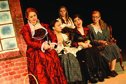 """A scene from the dress rehearsal of the Thomas Nelson High School production of """"The Legend of Sleepy Hollow"""" at the Bardstown Civic Center."""