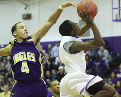 Anthony Myrks drives to the hole for a key basket during a second-half run by Bardstown.