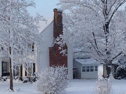This photo was taken of a home at 2891 Taylorsville Road in Bloomfield during the January 2015 snow that was supposed to give us a dusting.
