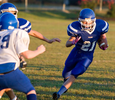 Tyler Wimpsett has been a beast this year running through opposing defenses for the South Nelson Rams.
