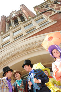JUNE 3, 2011: Stephen Foster Story singers performed during the grand reopening ceremony of Streetscape Friday.