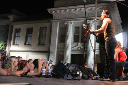 Sundy Best performs in front of a crowd of fans during the Bourbon City Street Concert Saturday on North Third Street.