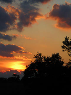 John McCubbin, Bloomfield, took this photo of a post storm sunset in June 24.