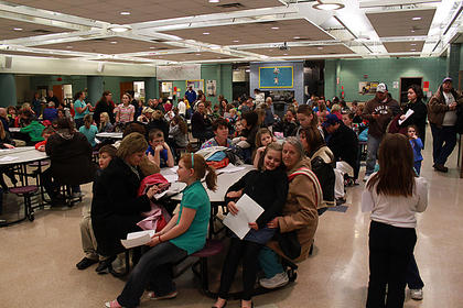 More than a hundred children showed up to audition for a part in the musical.