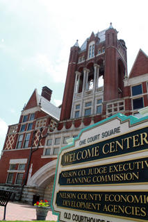 JUNE 1, 2011: The Old Courthouse welcome center is complete with a new sign.