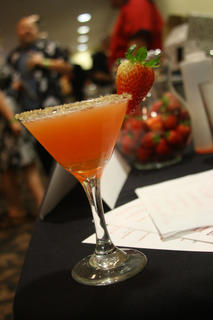 """""""A Sidecar Named Desire,"""" the winning drink from Wednesday's Mixed Drink Challenge developed by a group of bartenders at the Old Talbott Tavern."""