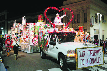 Buzick's float won first place in the commercial category